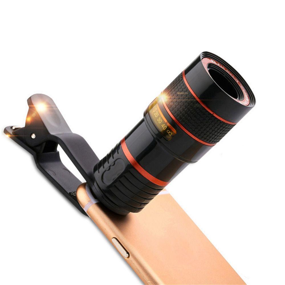 8X/12X Long-focus Mobile Téléphone Lentilles Zoom et Télescopique externe Mobile Téléphone 8 X/12X Caméra Lentille pour iPhone Sumsung