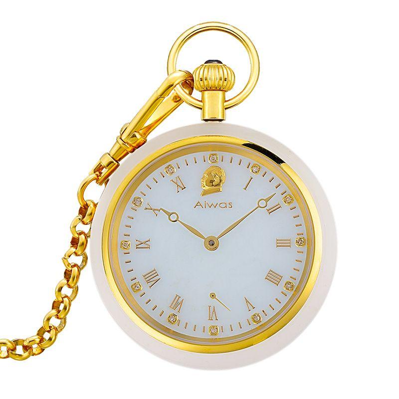Neue Hohl Mechanische Männer Jade Taschenuhr Mode Marke Mann tasche Uhren Top Luxus Heiße Art Mode Klassische Beliebte Uhr