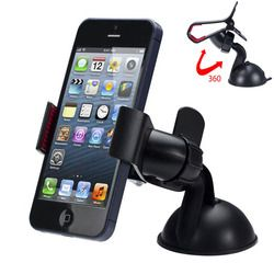 Universal 360 degree Car Windshield Mount Cell Mobile Phone Holder Bracket Stands for iPhone 5 6 Plus Galaxy Note 2 3 S4 S5 GPS