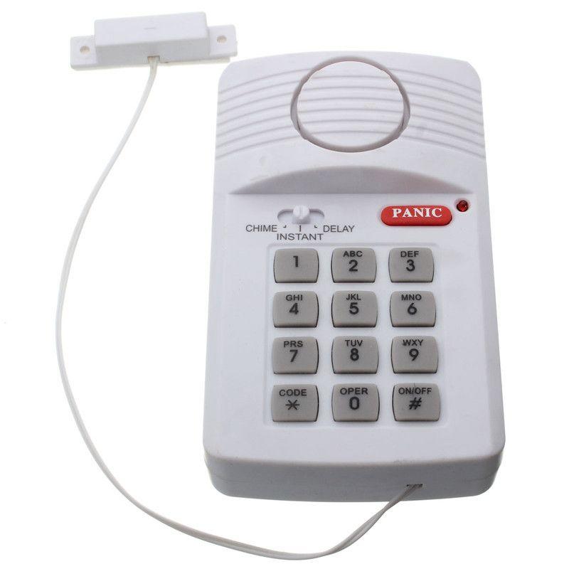 Best sales Hohe Qualität Sicherheit Tastatur Tür Alarm System Mit Panik-knopf Für Home Schuppen Garage Caravan