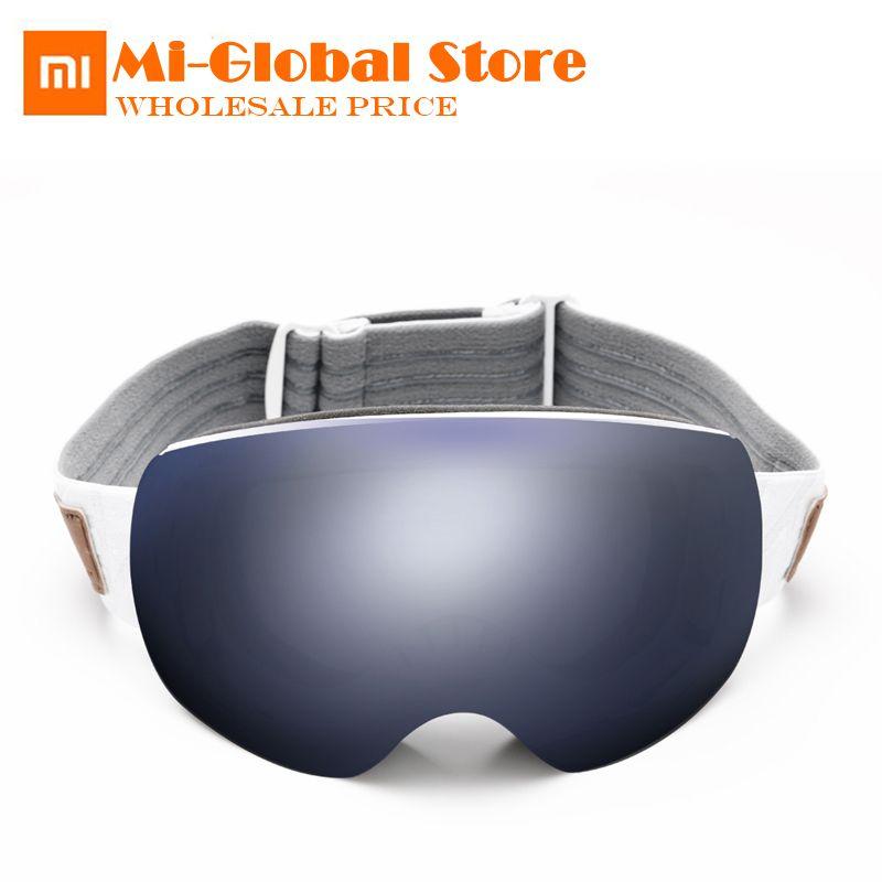 Xiaomi TS ski brille 2 stücke linsen HD sichtfeld UV schutz super anti-fog beschichtung Erwachsene Schnee gläser auswirkungen beständig