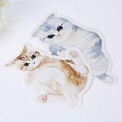 30 Pcs/lot Cute Novelty Heteronomous Languages Kucing Kartu Pos Kartu Ucapan Natal Kartu Ulang Tahun Hadiah Komputer dan Teknologi