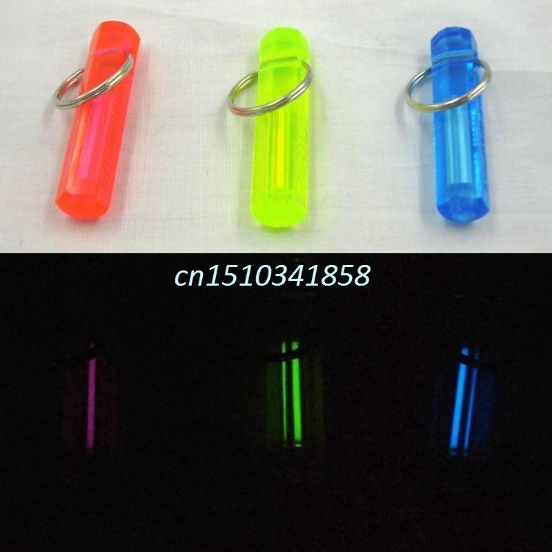 New Nite Tritium Glowing Illuminated Keyring Keychain Glow Stick Ring 10-Years #Y51#