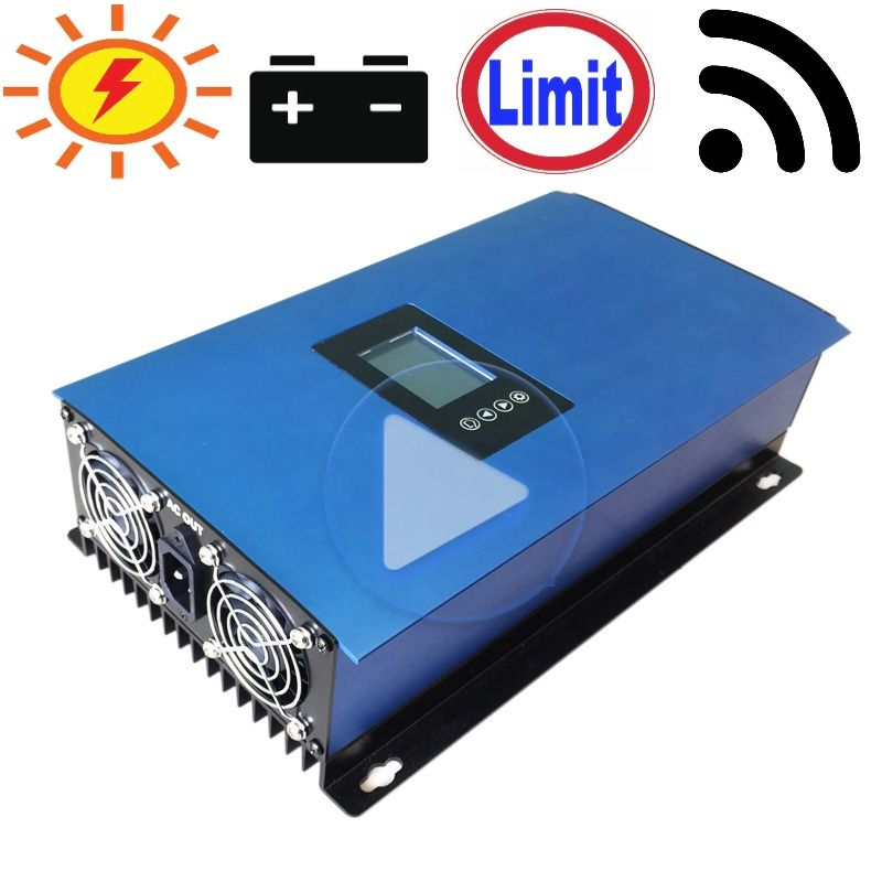 1000W Battery Discharge Power Mode/MPPT Solar Grid Tie Inverter with Limiter Sensor DC22-65V/45-90V AC 110V 120V 220V 230V 240V