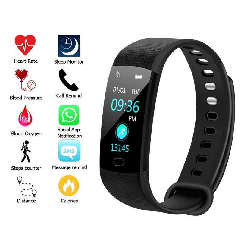 Y5 Smart Watch Sport Fitness Activity Heart Rate Tracker Blood Pressure wristband Waterproof Smartband Pedometer for IOS Android