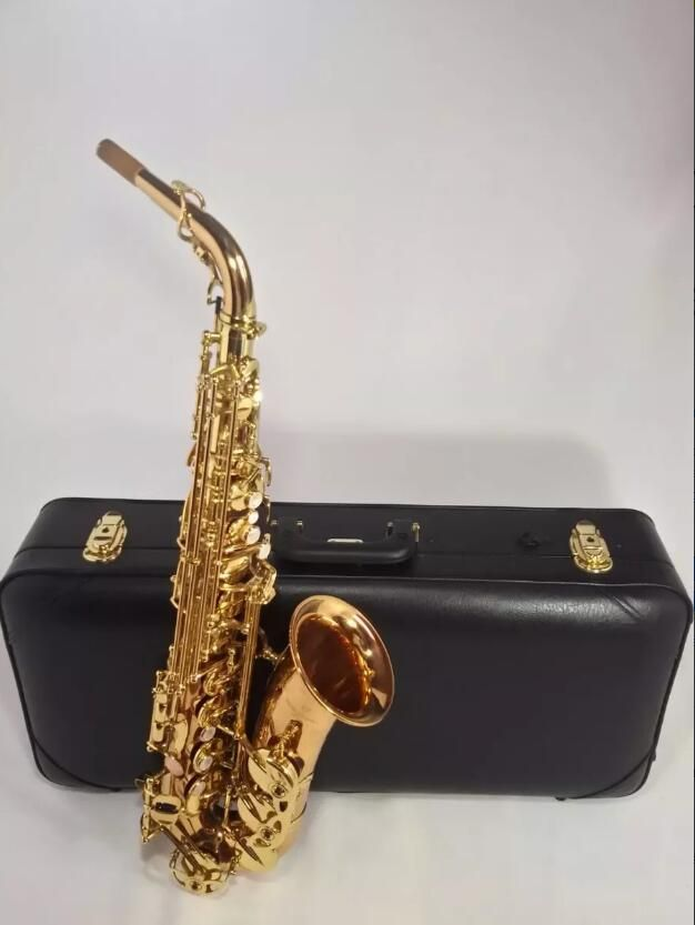 Saxphone Alto Yanagisawa A-WO1 992 Bronze Gold Lacquer Made In Japan Professional Brass Instruments Music Alto Saxofone E Flat