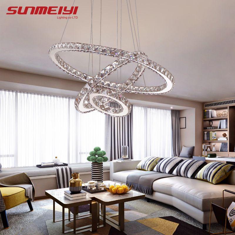Modern LED Crystal Chandelier Lights Lamp For Living Room Cristal Lustre Chandeliers Lighting <font><b>Pendant</b></font> Hanging Ceiling Fixtures