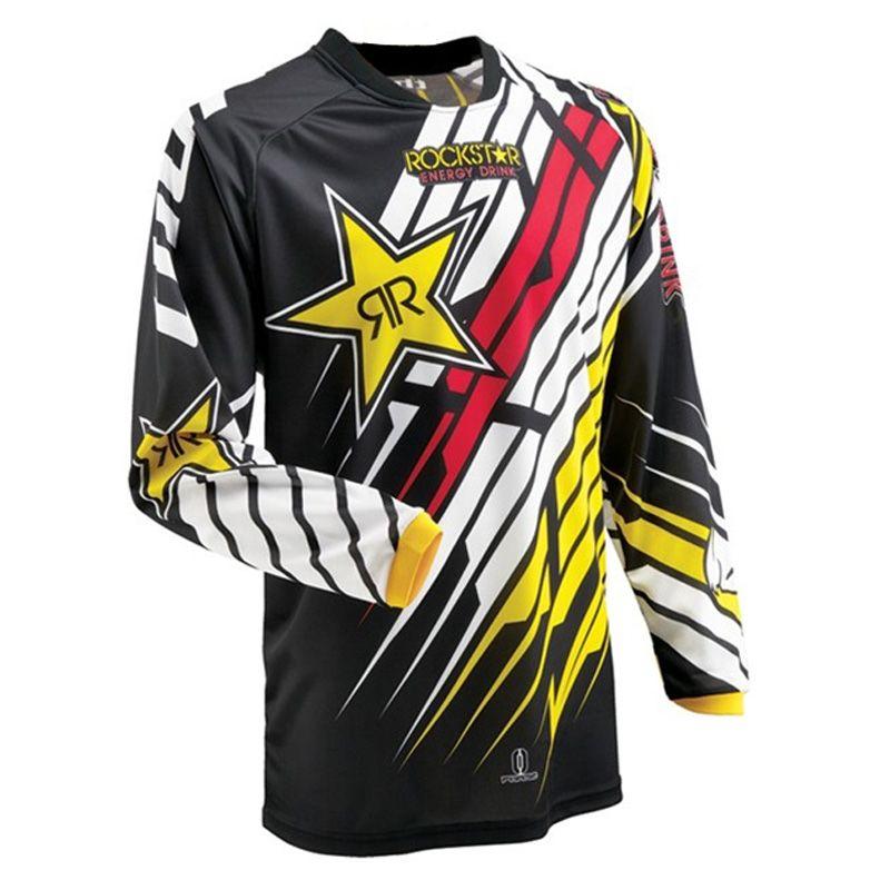 MTB jersey 2018 motocross <font><b>rockstar</b></font> equipement moto cross clothes bike clothes off-road mtb Custom name jerseys vtt cycling shirt