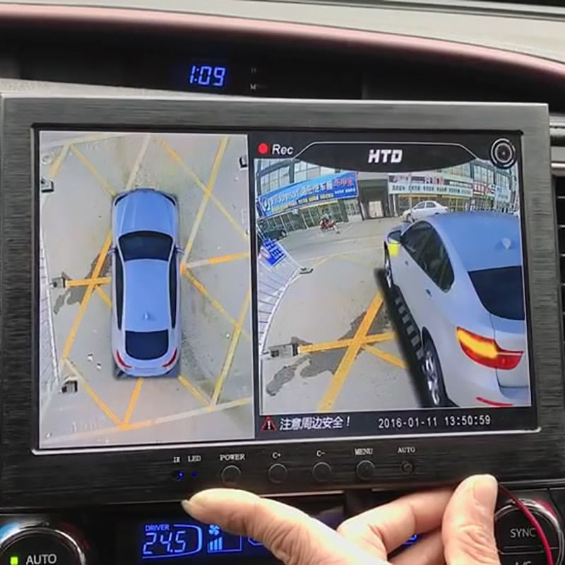 Neueste 3D HD Surround View Überwachung System 360 Grad Fahren Vogel Ansicht Panorama Auto Kameras 4-CH DVR Recorder mit G sensor