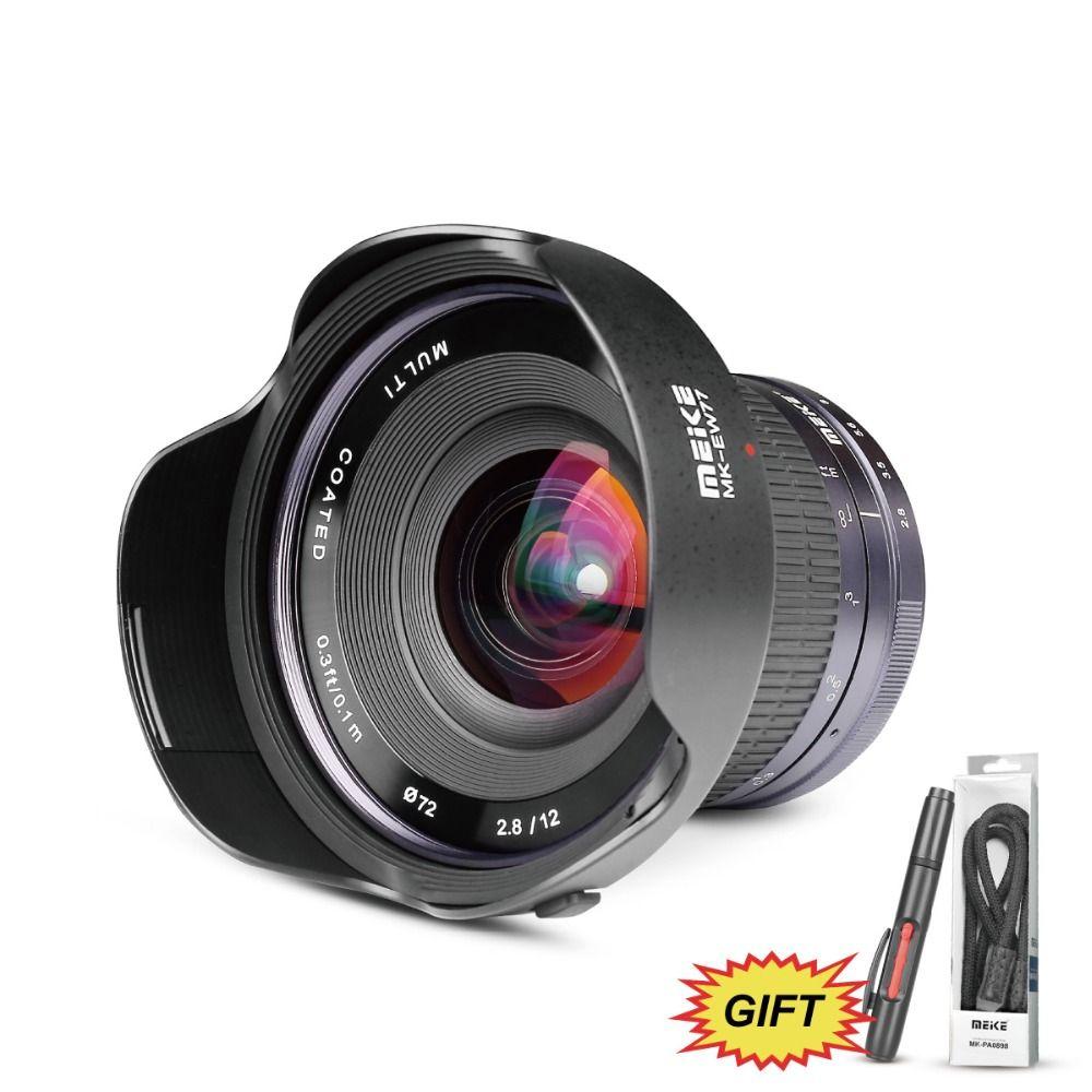Meike 12mm f/2,8 Ultra Weitwinkel Feste APS-C Objektiv mit Abnehmbare Haube für Fujifilm X Montieren Spiegellose APS-C Kamera X-Pro2 X-E3