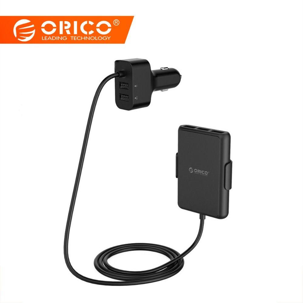 ORICO 5 Ports USB chargeur de voiture charge rapide 3.0 téléphone portable De Voiture-adaptateur de chargeur pour l'iphone 7 6 s Samsung Xiaomi Téléphone De Voiture chargeur