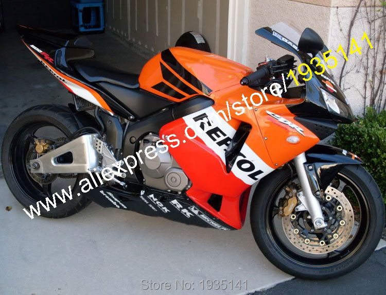 Hot Sales,Repsol Body Kit For Honda CBR600RR F5 2003 2004 CBR 600 RR 600RR 03 04 Sportbike ABS Fairing Kit (Injection molding)