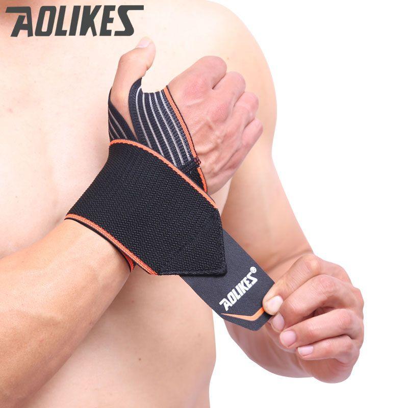 AOLIKES 2 Teile/los Sport Armbänder Wrist Strap Unterstützung Wraps Hand Verstauchung Recovery Armband Für Radfahren Tennis Gym Zubehör