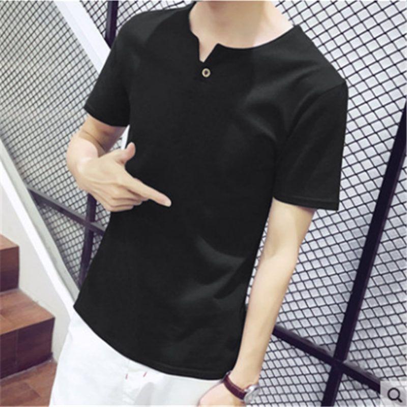 Cotton ammonia short sleeve T - shirt men's Korean version of the trend 100 leisure teenagers students super popular web