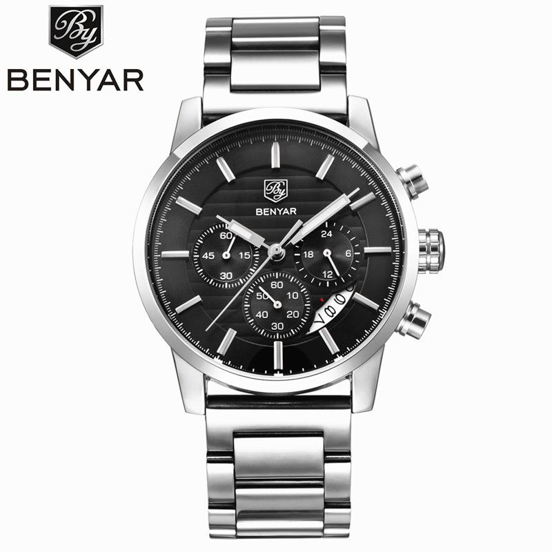 <font><b>BENYAR</b></font> Waterproof Mens Watches Top Brand Luxury 2017 Men's Watches Quartz-watch Wrist Watches For Men