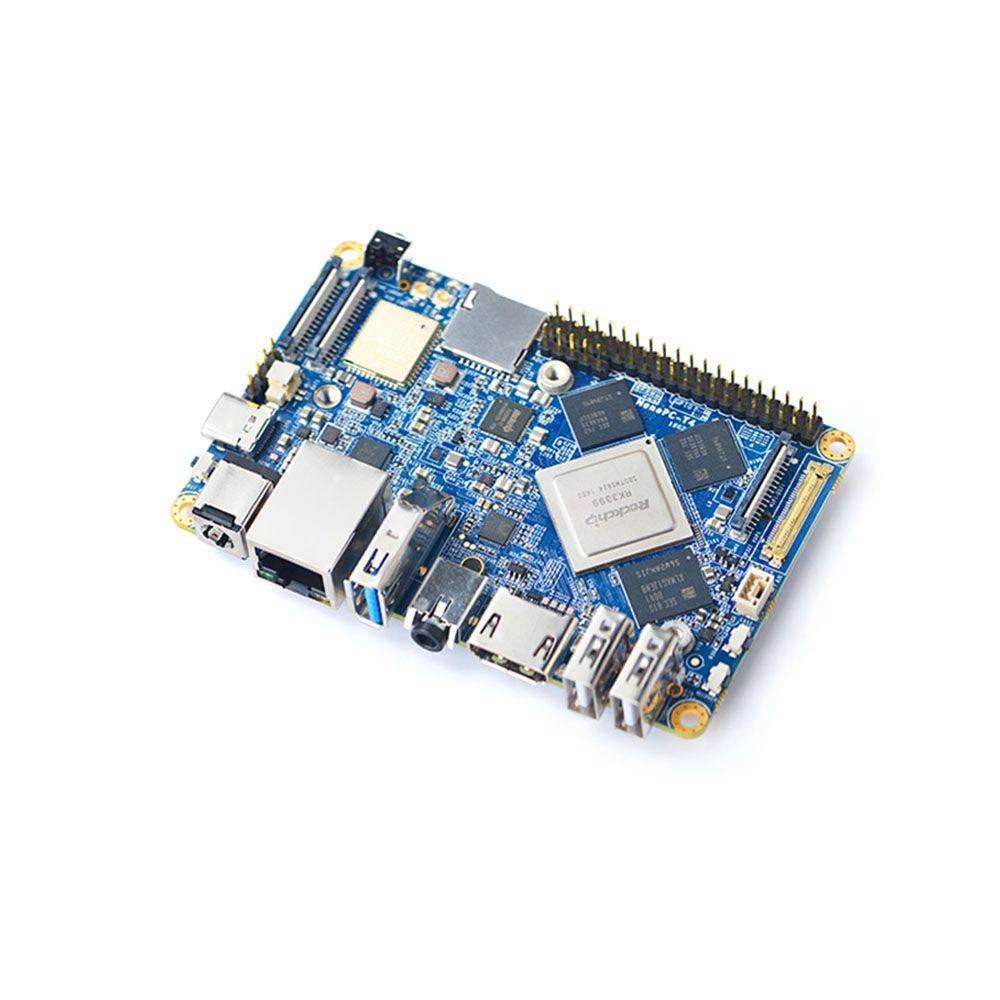 NanoPC-T4 Open Source RK3399 ARM Development Board DDR4 RAM 4GB Gbps Ethernet ,Support Android 8.1 Ubuntu, AI and deep learning