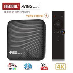 Mecool M8S PRO L Smart TV Box Android 7.1 Amlogic S912 3 GB RAM 32 GB ROM 5G Wifi BT4.1 Set-top Box avec La Voix Télécommande