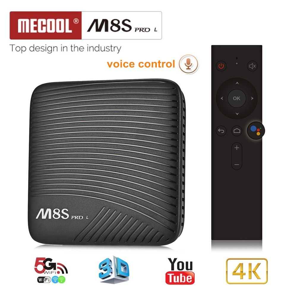 Mecool M8S PRO L Smart TV Box Android 7.1 Amlogic S912 3GB RAM 32GB ROM 5G Wifi BT4.1 Set-top Box with Voice Remote Control