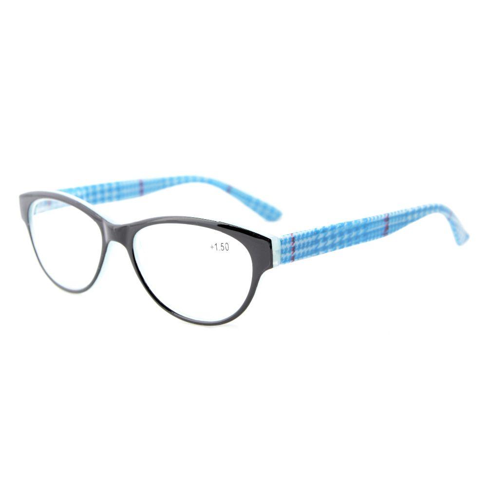 Mix 5-Pack Readers Spring Hinges Retro Cat-eye Reading Glasses Women +0.50----+4.00 KAG01-17