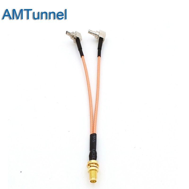 3G 4G antenna SMA Female to CRC9 Connector Splitter Combiner RF Coaxial Pigtail Cable  for 3G 4G Modem router
