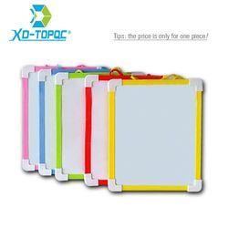 Xindi magnéticos niños Pizarras borrado en Seco 5 colores mini dibujo tableros blancos 20.6*18.5 cm pequeño tablero colgante gratis rotulador