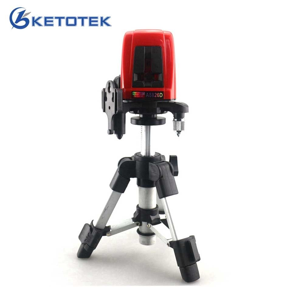 A8826D 1V1H Laser Level Cross Laser Level Red Lines with AT280 Tripod Self-leveling Laser Construction Diagnostic-<font><b>tool</b></font>