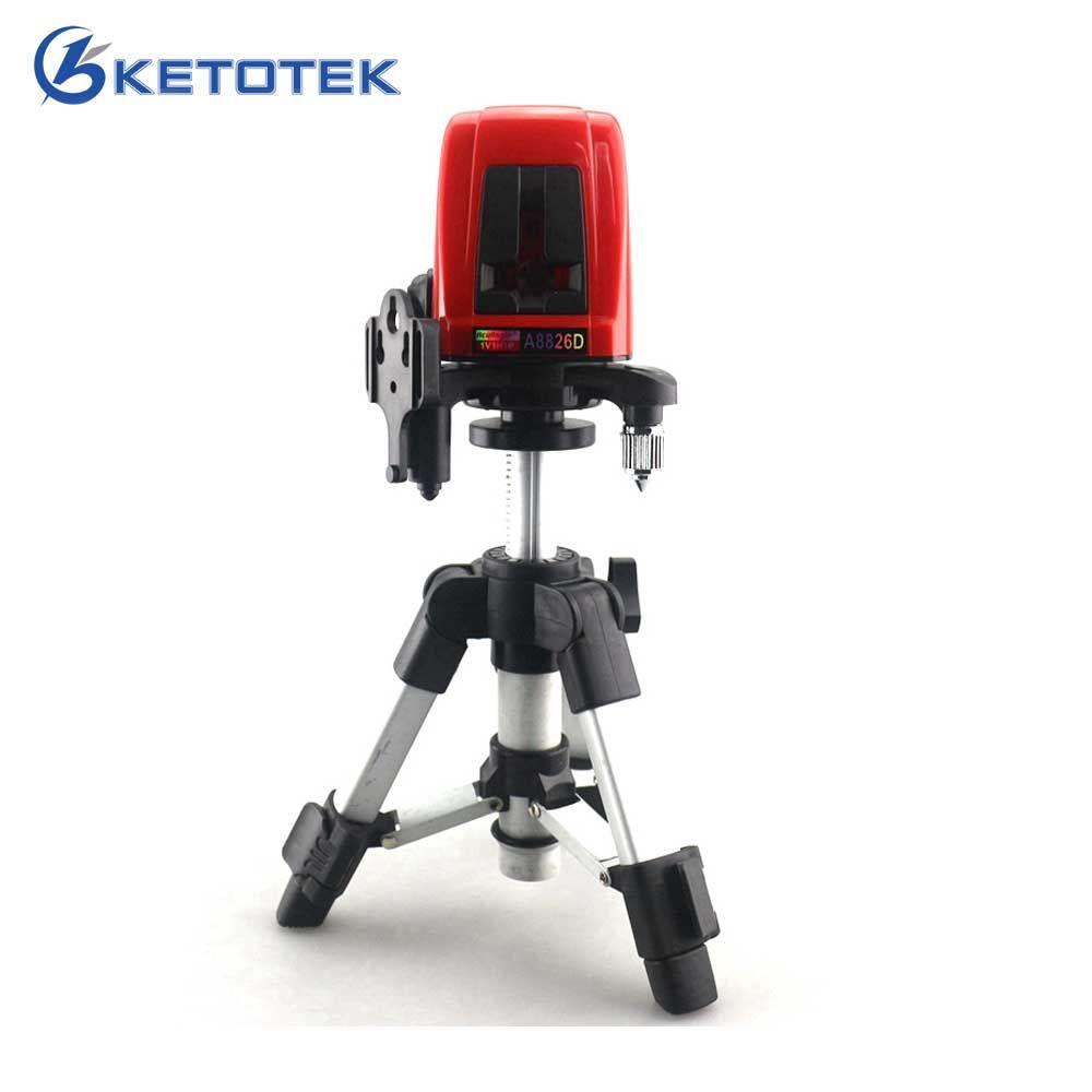 A8826D 1V1H Niveau Laser Croix Rouge Lignes avec AT280 Trépied Auto-nivellement Laser Construction De Diagnostic-outil Horizontal Vertical