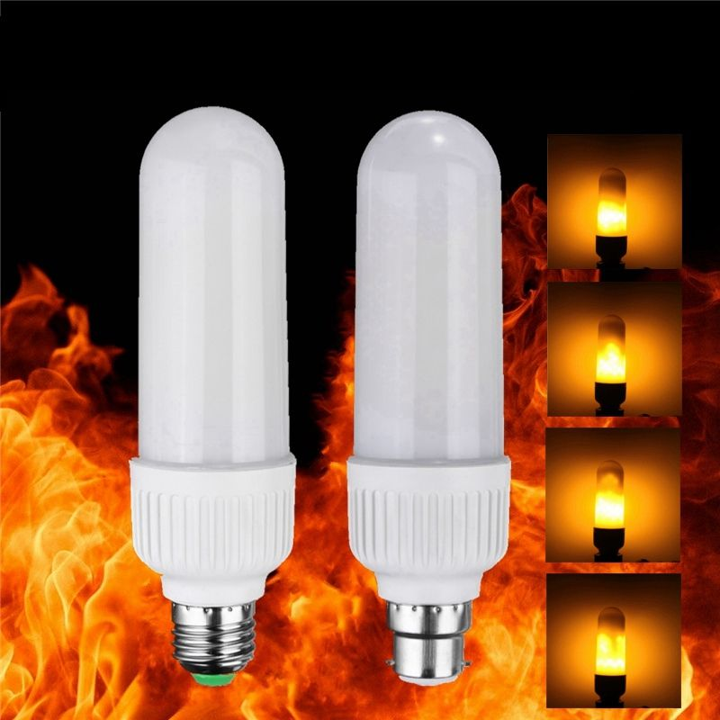 2835 99leds LED Lamp Bulb E27 B22 5W Vivid Flame Firing Flickering Effect LED Corn Light Bulb AC 220V/110V Home Decoration Lamp