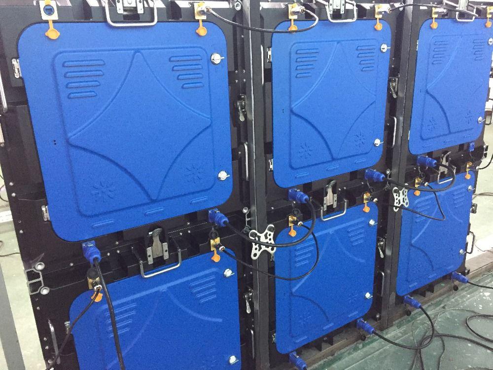 6 stücke P6 outdoor voll farbe, SMD 1/8 scan, 576X576mm druckguss aluminium schrank Control karte, flug fall und hängen strahl