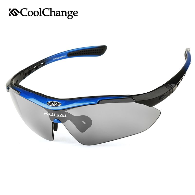 CoolChange Professional Polarized Cycling Glasses Bike Goggles <font><b>Outdoor</b></font> Sports Bicycle Sunglasses With 5 Lens Myopia Frame