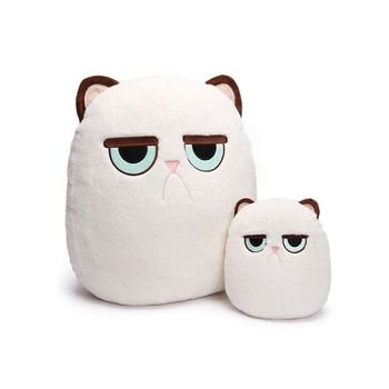 MICROPLUSH 25cm 50cm Grouchy kitten Cat Plush Toys Holiday Ornament Angrey Cat Soft Stuffed Animal Dolls Pillow for Kids Gift