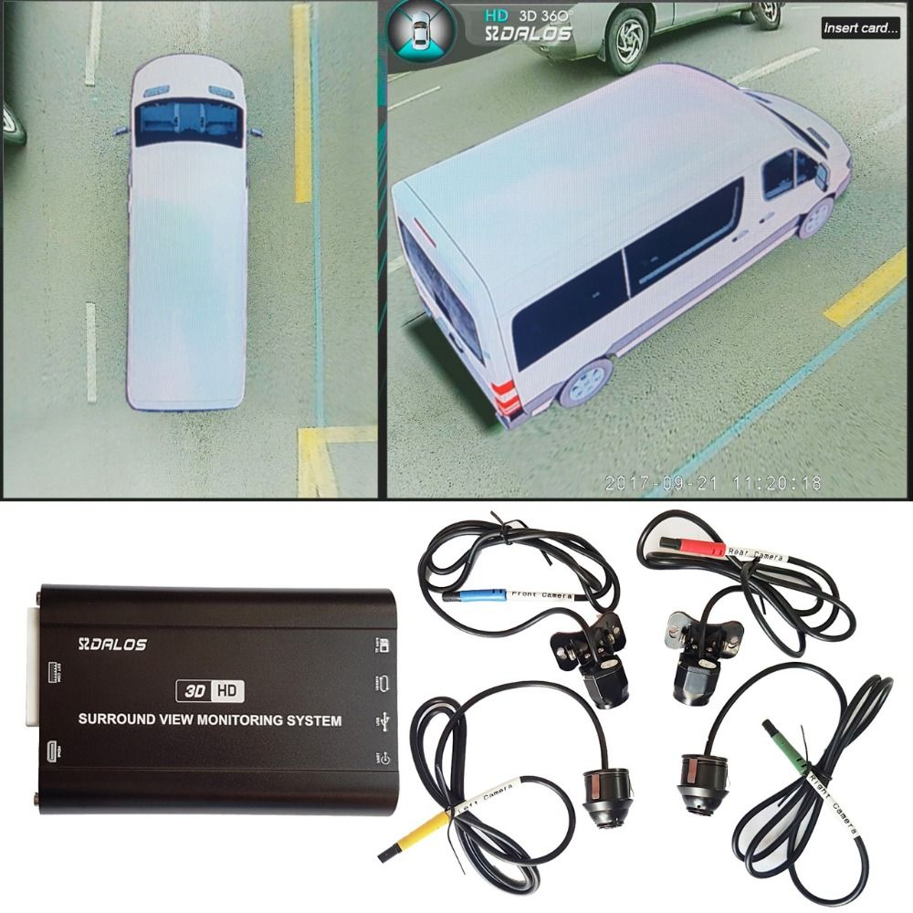 Vogel Ansicht kamera System für Sprinter/Pickup lkw/H3 große SUV HD 3D 360 Surround View System 1080 p DVR G-Sensor
