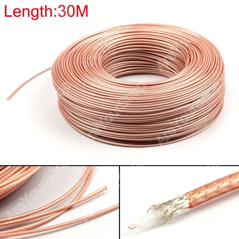 Areyourshop Sale 3000CM RG179 RF Coaxial Cable Connector 75ohm M17/94 RG-179 Coax Pigtail 98ft Plug
