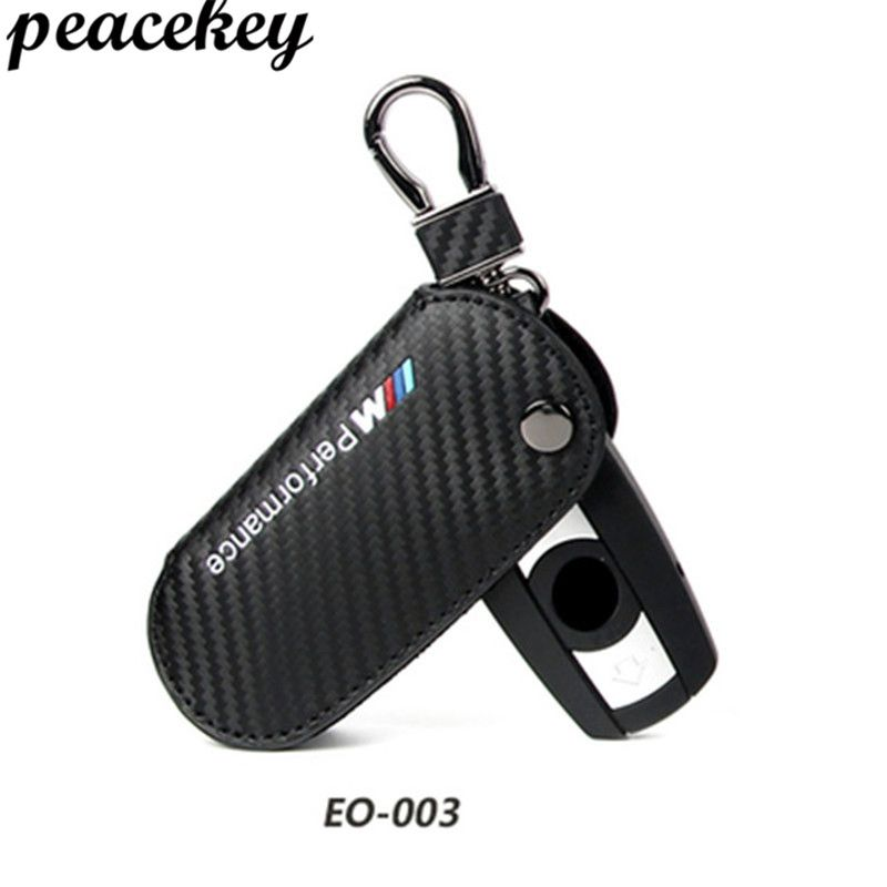 Peacekey Genuine Leather Key Cover Case For BMW Key Case Cover X1 X3 X5 X6 3 5 Series Car Styling ///M Key Bag For Bmw Key Cover