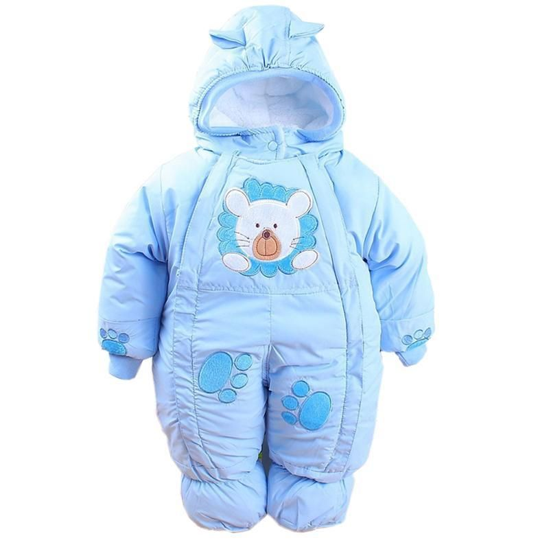 Baby Clothes Autumn Winter Newborn Baby Rompers 2018 New Cotton-padded Baby Boys Girls Jumpsuits Cartoon Infant Overalls Costume