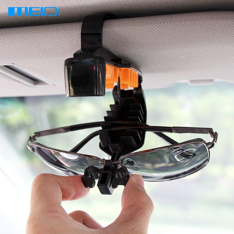 MEIDI Universal Car Sun Visor Mount Glasses Clip Portable Utility Vehicle Sunglasses Visor Holder Auto Glasses Frame