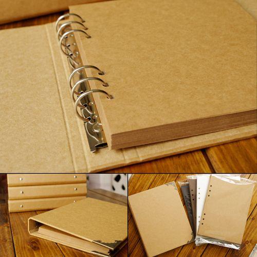 Accessoires à créer soi-même gratuit Pack couverture vierge à feuilles mobiles artisanat papier Album à la main bricolage Album Photo Fotoalbum Scrapbooking Albums de mariage