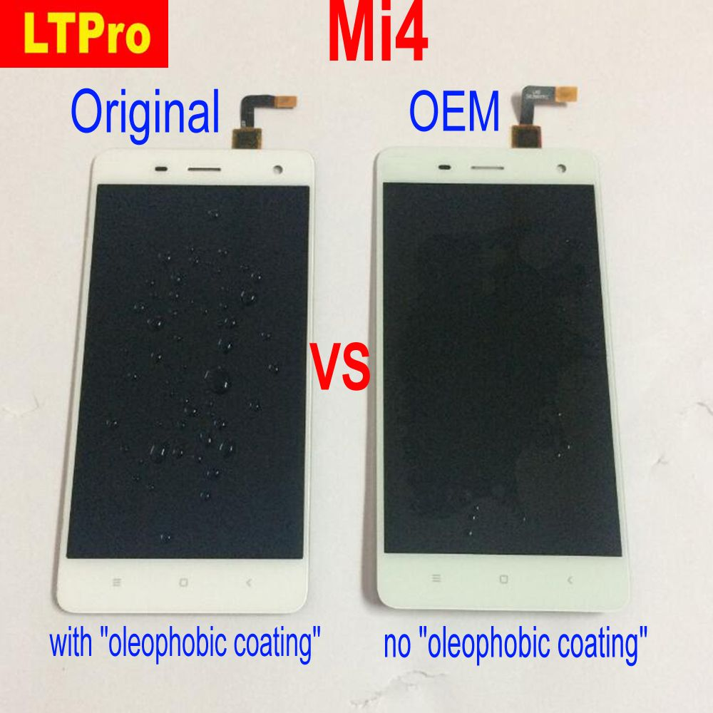 LTPro 100% Tested Original For Xiaomi Mi4 M4 MI 4 Full LCD Display Touch Screen Digitizer Assembly or with Frame Phone Parts