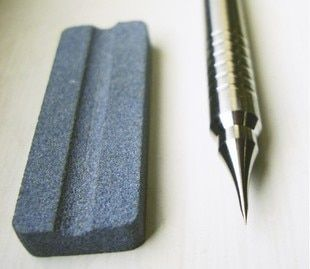 Nine Sea 601 Stainless Steel Needle Groove Scribed Line Pen With Polished Stone, Gundam Tools
