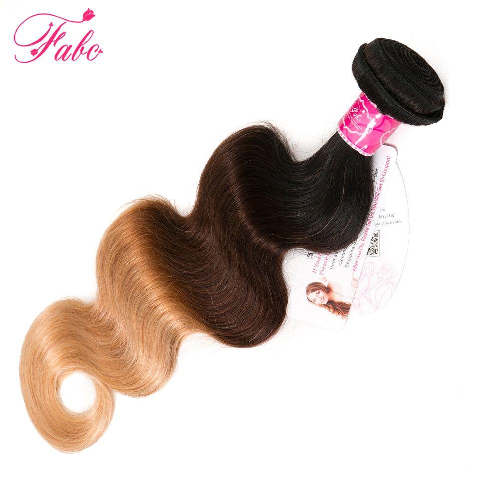 Fabc ombre бразильский волос на теле 1b/4/27 Человеческие волосы ткань 3 тона расслоения non-реми Человеческие волосы расширения можете смешать любо...