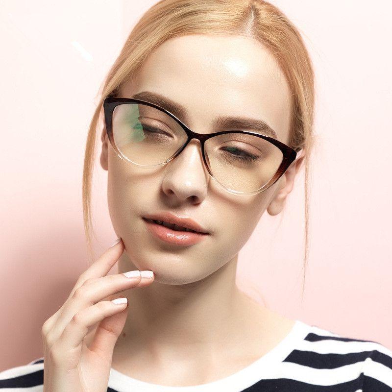BOYEDA TR90 Mode Brillengestell Weiblichen Grade Klare Gläser Vintage Computer Brillen Retro Frauen Katzenauge Optica Brillen
