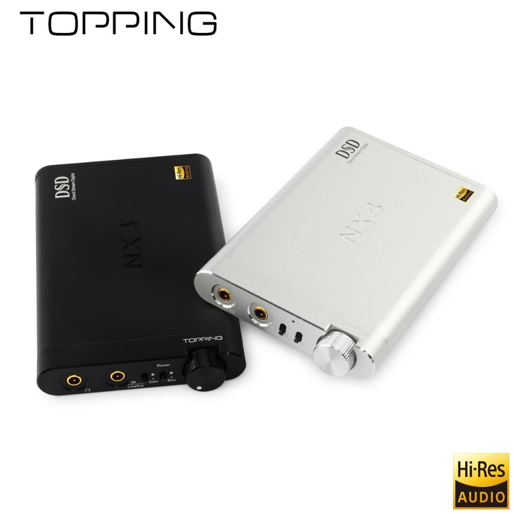 NEW TOPPING NX4 DSD fever HiFi portable decoding amp XMOS, ES9038Q2M, OPA2140 USB DAC decoder, DSD512 (Native) hardware solution