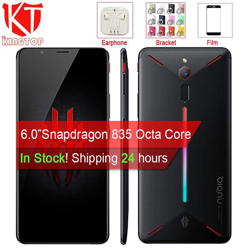 Original ZTE Nubia Rot Magie Spiel Handy 6 Octa Core 6/8 gb 64/128 gb full Screen Fingerprint Android 8.1 4g LTE Smartphone