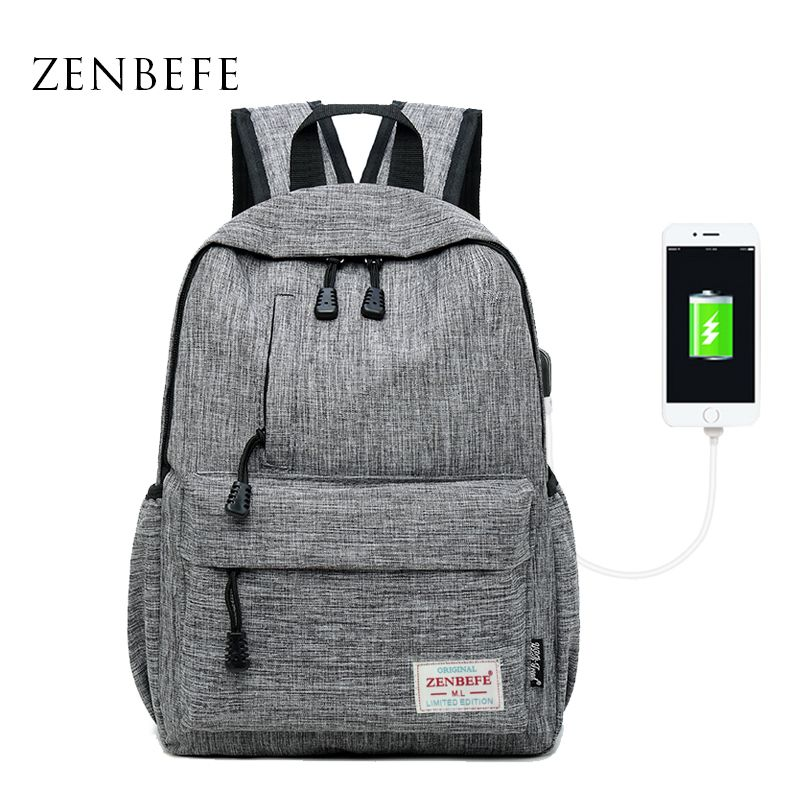 ZENBEFE Linen Small Backpack Unisex School Bags For Teenage School Backpack For <font><b>Students</b></font> Backpacks Rucksack Bookbags Travel Bag