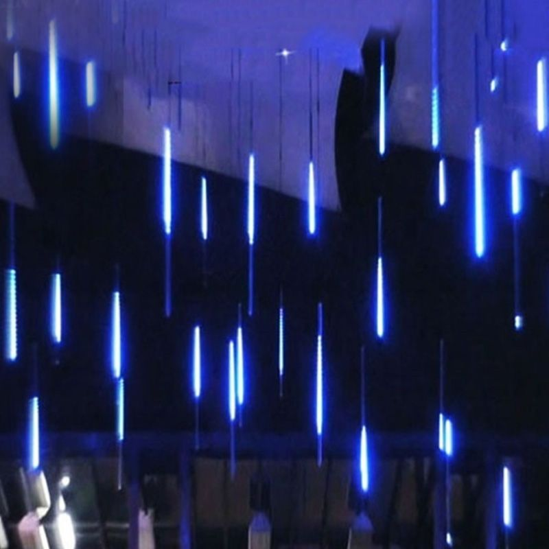 Nouvel an 30/50cm pluie de météores en plein air 8 Tubes LED guirlandes lumineuses étanche pour arbre décoration de fête de mariage de noël