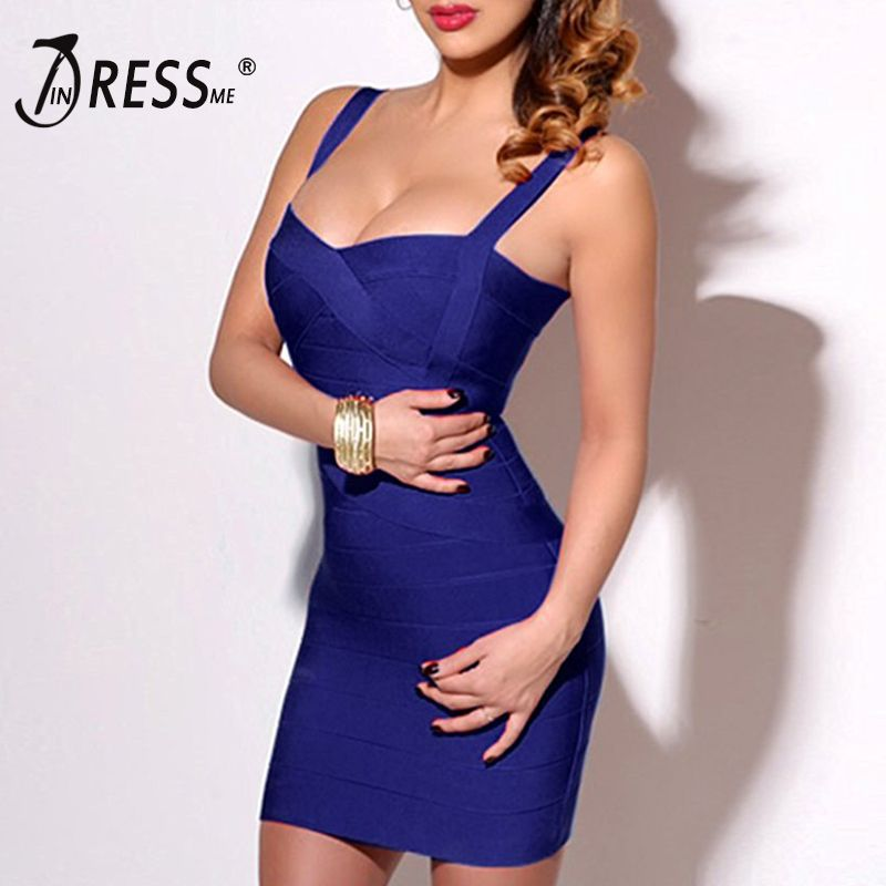 INDRESSME 2018 Bandage Dress Sexy Mini Spaghetti Strap Bodycon Strapless Club Party Summer Lady Dresses Femme Vestidos