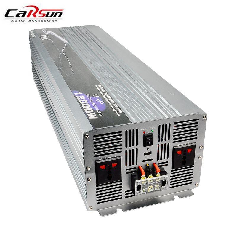 12000W Inverter DC 12V/24V/48V to AC 220V Pure Sine Wave PV Inverter Off Grid Solar/Wind Power Inverter Solar Inverter