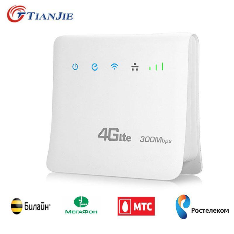 Indoor 300 Mbps 4g LTE CPE Wifi Router FDD TDD Breitband Mobile Router Hotspot Drahtlose modems mit SIM karte slot RJ45 LAN Port