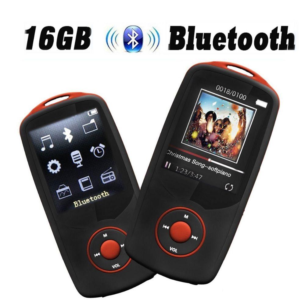 2017 Original RUIZU X06 16G Bluetooth MP3 Music Player 1.8 Inch 100hour High Quality Lossless Recorder FM Radio Sports Walkman
