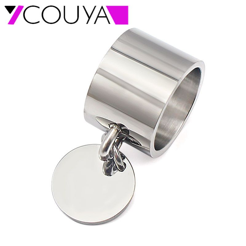 Fashion Silver Rings anillos Stainless Steel Big Party Charm Rings for Women FeMale boy High Quality Large Stock Wholesale